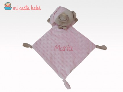 Duo Mantita rosa oso personalizable