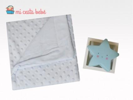 Set manta personalizable+lampara estrella
