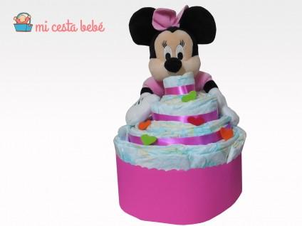 Tarta de pañales cupcake Mickey/Minnie